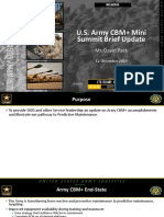 Army-brief U.S. Army CBM Mini Summit Brief Update