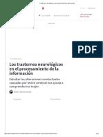 Trastornos neurológicos y procesamiento de la información