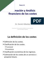 Tema 2.2 Analisis financiero y estimación de los costes (3)