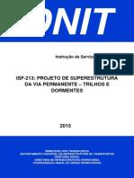 ISF-213 - Projeto de Superestrutura Da via Permanente - Trilhos e Dormentes