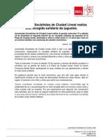 Juventudes Socialist As de Ciudad Lineal Realiza Una Recogida Solidaria de Juguetes