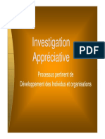 Investigation appreciative