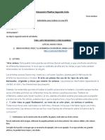 CUARTO GRADO ED.PLASTICA ACTIVIDAD N°2 B
