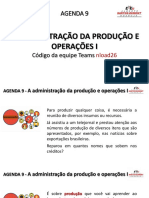 AGENDA_9 – A administração da produção e operações I