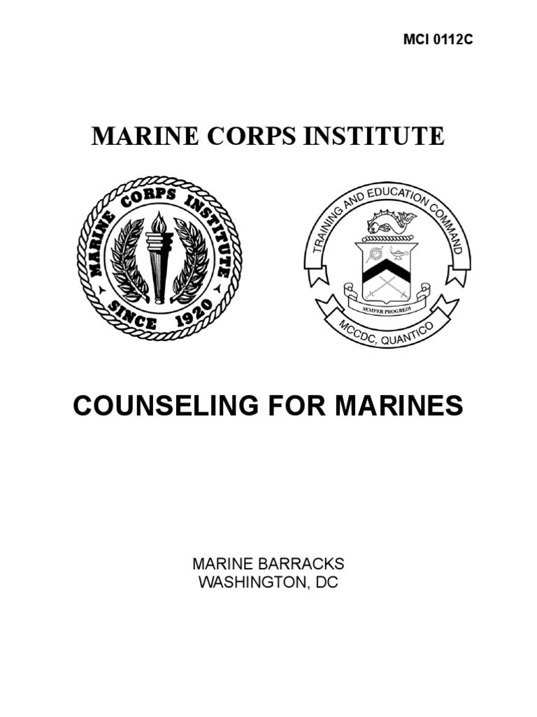 Counseling for Marines United States Marine Corps – Counseling Worksheet Usmc