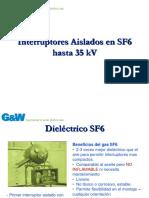 CENTRO DE REFLEXION SF6 switch Gas