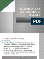 REGULARISATION DES CHARGES