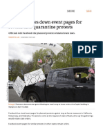 Facebook takes down event pages for several anti-quarantine protests _ Ars Technica