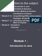 Module 1 - Introduction (T1)