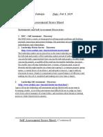 leadership self assessment score sheet