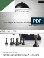 Abordagem à norma NP EN ISO 90012015
