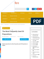 The Most Frequently Used 50 Prepositions - English Study Here