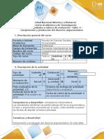 Guía de actividades y rúbrica de evaluación - Taller 4 - Comprensión y producción del discurso argumentativo.docx