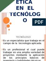 Expo sobre la etica en el tecnologo