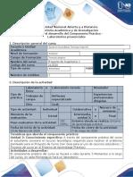 Guía para el desarrollo de componente práctico-Laboratorios presenciales