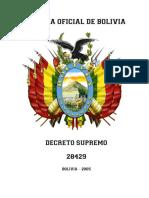 DECRETO SUPREMO Nº 28421