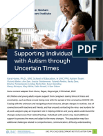 Supporting Individuals With Autism Through Uncertain Times