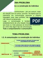 TEMA-PROBLEMA A comunicação e a construção do indivíduo