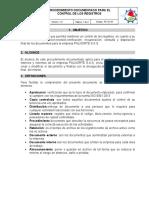 PROCEDIMIENTO DOCUMENTADO PARA EL CONTROL DE LOS REGISTROS.docx