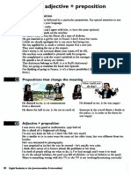 preposition with verbs and adjectives