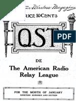 ARRL QST - January 1916-JFlint