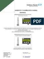 E+H CALIBRACIÓN Densímetro Gammapilot