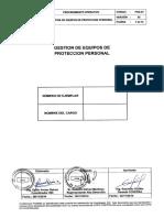 POS-03 Gestión de Equipos de Protección personal version 02