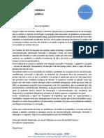 Carta Aberta - Movimento Anti-Corrupção