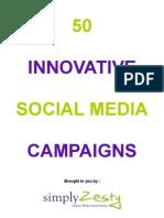 50 Innovative Social Media Campaigns