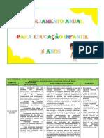 PLANEJAMENTO ANUAL EDUCAÇÃO INFANTIL 5 ANOS