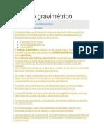 Método gravimétrico 1