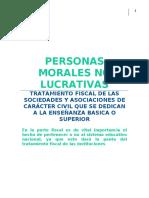 Personas morales no lucrativas