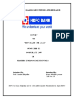Project on Hdfc Car Loan