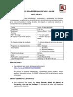 Reglamento III Torneo de Ajedrez Universitario (Individual) - Abril 13