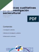 las técnicas cualitativas en la investigación epidemiológica