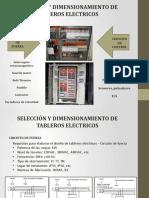Selección y dimensionamiento de tableros eléctricos