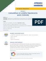 Matematica4 Semana 3 Dia 1 Credito Hipotecario Ccesa007