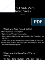 Output VAT- Zero Rated Sales chapter 8