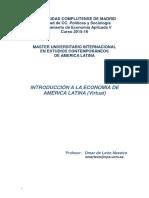 Introducción a la economía de América Latina - UCM