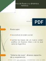 El sistema de Rosas y su dinámica histórica