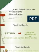 Presentaciuón Régimen Constitucional del Procedimiento  Administrativo