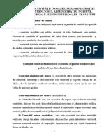 UI 5 CONTROLUL ACTIVITĂŢII ORGANELOR ADMINISTRAŢIEI PUBLICE. CONTENCIOSUL ADMINISTRATIV. NOŢIUNE, FUNDAMENTE LEGALE ŞI CONSTITUŢIONALE. TRĂSĂTURI.doc