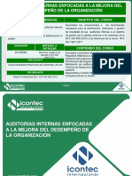 11VE03-V2 AUDITORÍAS INTERNAS  DESEMPEÑO DE LA ORGANIZACIÓN