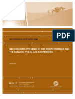 GCC Economic Presence in the Mediterranean and the Outlook for EU-GCC Cooperation