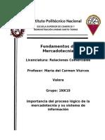 Importancia del proceso lógico de la mercadotecnia y su sistema de información_ Resendiz Tovar Melissa