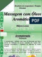 Massagem com óleos aromáticos