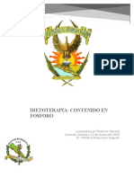 Dietoterapia; contenido en fosforo