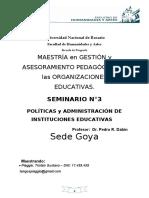 Seminario  3 Politica y Geston....Gustavo