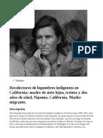 Recolectores de legumbres indigentes en California