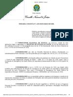 Conselho Nacional de Justiça - Portaria Conjunta n. 01 -2020 - Procedimentos excepcionais para sepultamento e cremação de corpos